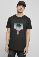 Tricou Psychedelic Planet negru Mister Tee