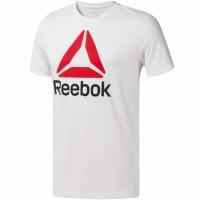 Tricou Reebok QQR- Stacked alb CW5367 barbati