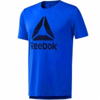 Tricou Reebok Workout imprimeu Graphic Tech , albastru DU2177 barbati