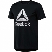 Tricou Reebok Workout imprimeu Graphic Tech Tee barbati negru DU2178