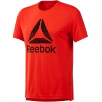 Tricou Reebok Workout imprimeu Graphic Tech Tee barbati rosu DU2198