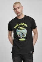 Tricou Rick and Morty Logo negru Merchcode