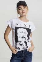 Tricou roz Portrait pentru Femei alb Merchcode