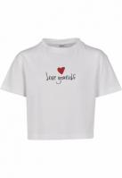 Tricou scurt Love Yourself pentru Copii alb Mister Tee