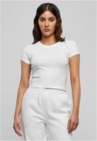 Tricou scurt Stretch Jersey pentru Femei alb Urban Classics