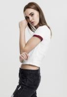 Tricou scurt urban pentru Femei alb-rosu burgundy Urban Classics