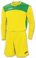 Tricou Set echipament portar Joma Area Iv galben-verde +short