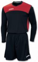 Tricou Set echipament portar Joma Area Iv negru-rosu +short