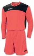 Tricou Set echipament portar Joma Area Iv Orange-negru +short