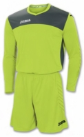 Tricou Set echipament portar Joma Area Iv verde-gri +short