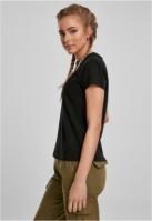 Tricou simplu lejer pentru Femei negru Urban Classics