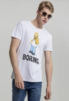 Tricou Simpsons Boring alb Merchcode