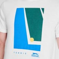 Tricou Slazenger tenis imprimeu Graphic pentru Barbati