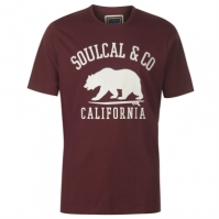 Mergi la Tricou cu imprimeu SoulCal Large pentru Barbati