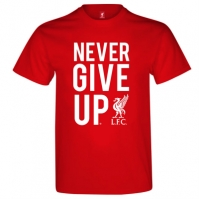 Tricou Source Lab Liverpool Never Give Up pentru Barbati