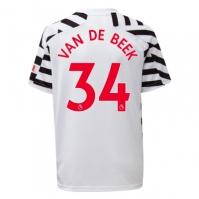 Tricou sport Third adidas Manchester United Donny Van De Beek 2020 2021 pentru copii