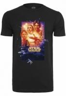 Tricou Star Wars Poster Episode IV negru Merchcode