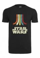Tricou Star Wars Rainbow Logo negru Merchcode