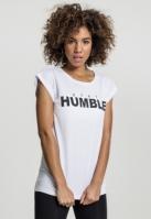Stay Humble Tee pentru Femei alb Mister Tee