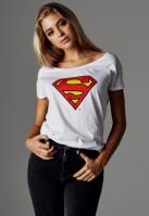 Tricou Superman Logo pentru Femei alb Merchcode