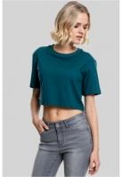 Tricou supradimensionat scurt pentru Femei bleu Urban Classics
