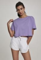Tricou supradimensionat scurt pentru Femei lavender Urban Classics