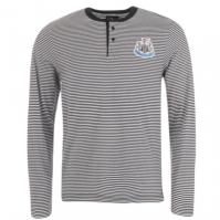Tricou Team Newcastle United cu dungi Grandad pentru Barbati