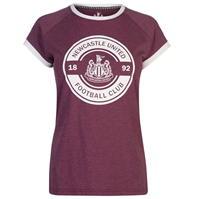 Tricou Team Newcastle United fotbal Club Slogan pentru Femei