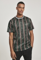 Tricou Thin Vertical Stripes AOP verde Southpole