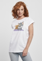 Tricou Tom & Jerry Pose pentru Femei alb Merchcode