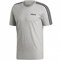 Tricou barbati adidas Essentials 3 Stripes gri DU0442