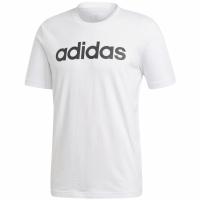 Tricou barbati adidas Essentials Linear alb DQ3056