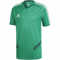Tricou sport antrenament Adidas Tiro 19 verde DW4812 barbati teamwear adidas teamwear