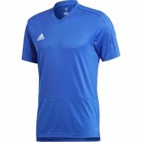 Tricou sport antrenament barbati Adidas Condivo 18 albastru CG0352 teamwear adidas teamwear