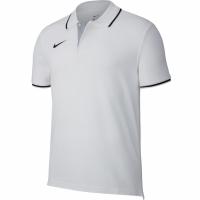 Tricou polobarbati Nike Team Club 19 SS alb AJ1502 100
