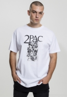 Tricou Tupac Collage alb Mister Tee