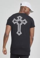 Tricou Tupac Cross negru Mister Tee