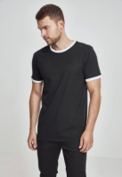 Tricou urban Ringer negru-alb Urban Classics