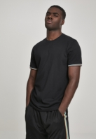Tricou urban Ringer Rib negru-multicolor Urban Classics