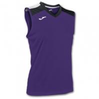 Tricou volei Joma Purple-negru fara maneci W