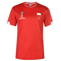 Tricou FIFA Cupa Mondiala 2018 Rusia Polonia Poly pentru Barbati