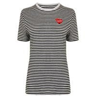 Tricou ZOE KARSSEN cu dungi Embroidered
