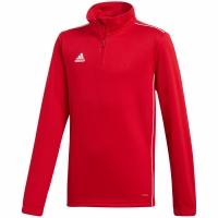 Bluza de trening antrenament antrenament adidas Core 18 rosu CV4141 copii