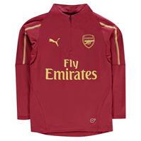 Tricouri antrenament Puma Arsenal Quarter cu fermoar 2018 2019 pentru copii