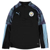 Tricouri antrenament Puma Manchester City Quarter cu fermoar 2019 2020 pentru copii