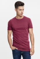 Tricouri barbati simple lungi rosu burgundy Urban Classics