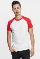Mergi la Tricouri casual in doua culori pentru barbati alb-rosu Urban Classics