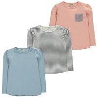 Tricouri Crafted . of 3 pentru fete pentru Bebelusi