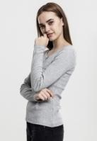 Tricouri cu maneca lunga cu buzunar gri Urban Classics
