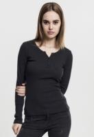Tricouri cu maneca lunga cu buzunar negru Urban Classics